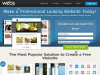 Free Website Builder: Make a Free Website & Hosting | Webs