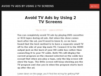 avoidtvadsbyusing2tvscreens.wordpress.com