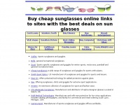 Buy cheap sunglasses online links to sites with the best deals on sun glasses