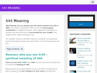 444meaning.org