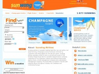 Cheap Flights | Last Minute Flights | Champagne Flights | FlySunwing.com