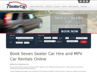 7seatercar.com - 7-seater car hire and cheap 9-seater car rental