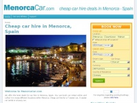 Menorca Car Hire, Cheap Car Rental Menorca Airport | MenorcaCar.com