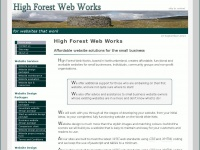 High Forest Web Works: affordable websites for small businesses, individuals & groups