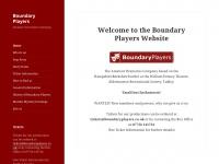 Boundaryplayers.co.uk