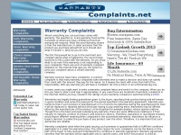 warrantycomplaints.net