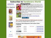 Gardeners World Magazine - Subscribe to the Cheapest Gardeners World Gardening Magazine Subscription Prices