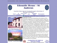 Edenside House St Andrews, Bed and Breakfast ,Accommodation,  Bed and Breakfast, St Andrews, Fife, Scotland, UK.
