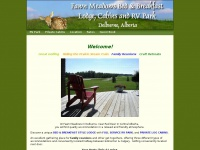 Delburne Central Alberta Red Deer bed  breakfast RV park golf retreat resort cabins meeting room Fawn Meadows Lodge