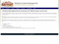 Risecms.com - RISE CMS - Website design hosting content management CMS for Bed Breakfast Homes and Inns