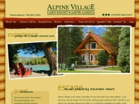 Alpine Village Cabin Resort Jasper Luxury Log Cabins in Jasper National Park
