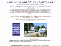 Pinewood Inn Motel - Golden BC motel offering affordable super clean accommodation