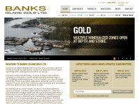 Banks Island Gold Ltd. - Home Page - Mon Apr 21, 2014