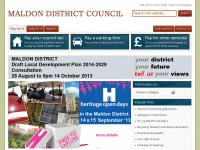 Maldon District Council Homepage - Telephone: 01621 854477 (24 hour answerphone)