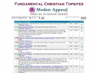 Topvisibility.com - Fundamental Christian Topsites - Rankings - All Sites