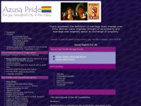 Azusa Pride - http://www.azusapride.com - 91702 - supporting eqality and justice for all