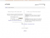Etusd.org - eTUSD: Login to the site