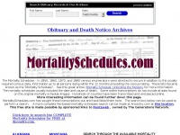 mortalityschedules.com
