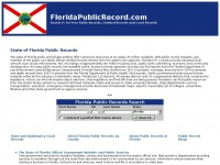 Florida Public Records - Court Records - Criminal Records