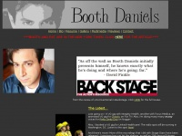 Welcome to the homepage of actor Booth Daniels