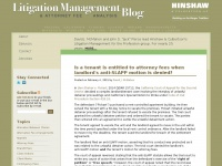 Litigation Management & Attorney Fee Analysis Blog : Attorney Fee Analysis & Litigation Management Lawyer : Hinshaw & Culbertson Law Firm : Litigation Management, Legal Fees, Billing Guidelines