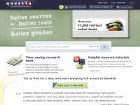Write better papers, faster! |Online Research Library: Questia