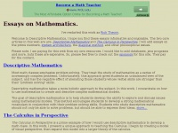 Essays on Mathematics