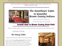 Romantic Brown County Indiana Getaway Cabin for Honeymoons or Anniversaries