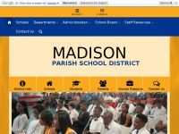 Madisonpsb.org - Madison Parish School Board Home Page