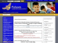 Folsom Elementary School District - Index