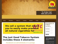Freshchoicetobacco.com - The Just Good Tobacco System