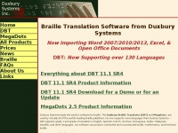 Braille Translation Software from Duxbury Systems