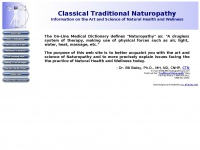 Classicalnaturopathy.org - Classical Traditional Naturopathy - The Natural Path to Wellness of the Traditional Naturopath