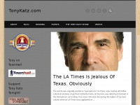 TonyKatz.com » ...best described as a mash-up of Tony Stark, Dennis Leary, and Tony Robbins - Jim Geraghty, National Review