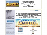 Hoperidge.com - Welcome to Hope Ridge United Methodist Church Mentor, OH 44060