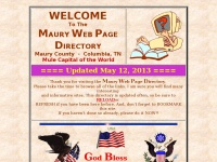 COLUMBIA, TN - MAURY COUNTY, TN - WEB PAGE DIRECTORY