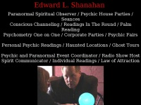Edwardshanahan.com - Edward Shanahan Chicago Psychic Reader and Supernatural Spirit Observer