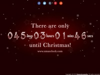Xmasclock.com - Christmas Countdown 2014 - Find out how many days until Christmas 2014