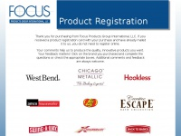 Registerfocus.com - Focus Products Group LLC Product Registration