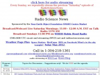Scratch Pad Schedule of topics for Radio Science News