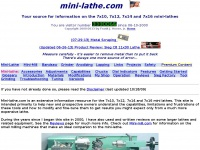 mini-lathe.com home page