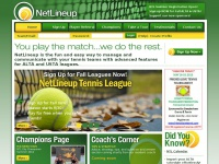 Netlineup.com - NetLineup - Manage and Organize your Tennis League Teams - USTA, ALTA, etc.