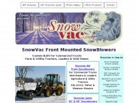 Snowvac.com - SnowVac Front Mounted Snowblowers for Trucks, Tractors, and Loaders - Buhler Farm King Implements
