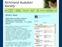 Richmond Audubon Society Home Page