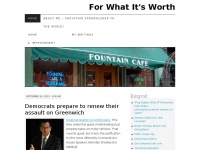 For What It's Worth | Greenwich, Connecticut real estate, politics, etc.