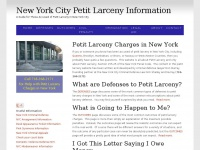New York Petit Larceny Information - New York Petit Larceny Information