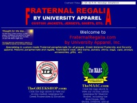 FRATERNAL REGALIA by University Apparel, Inc.