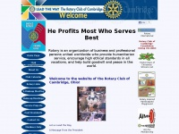 Rotary Club of Cambridge Ohio Home Page - He Profits Most Who Serves Best
