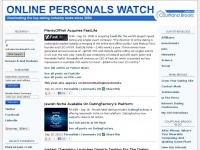 Online Personals Watch: News on the Dating Industry and Business