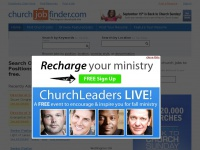 Ministry Jobs, Church Jobs and Christian Employment Opportunities, Church Positions and Pastor Jobs - ChurchJobFinder.com